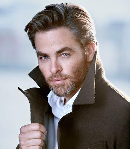 Chris Pine Worldly Classic Men's Haircuts