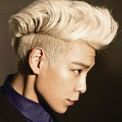 Blonde Asian Two Block Haircut
