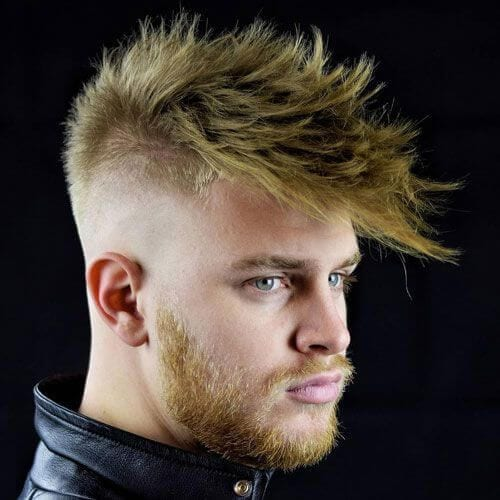 Textured Fringe + Bald Fade + Messy Hair