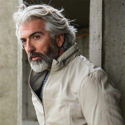 42 Hairstyles For Men With Silver And Grey Hair Men