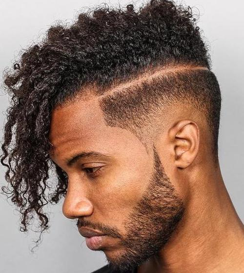 Hipster Haircut with Fade For Black Men