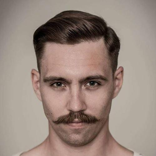 Dapper Men's Haircuts with Chevron Mustache