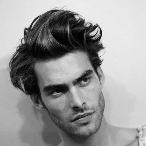 Male Model Hairstyle for Medium Length Hair