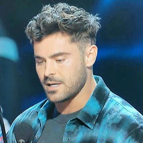 Undercut + Textured Hair - Zac Efron hair