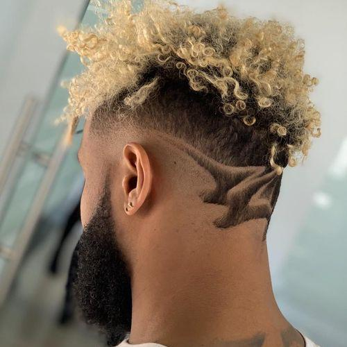 Creative Hair Design + Beard Fade - Odell Beckham Jr Hair