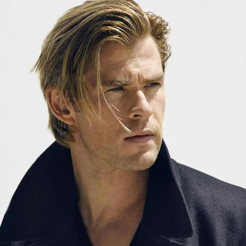 Medium Length Hair + Bangs + Side Swept - Chris Hemsworth Haircut
