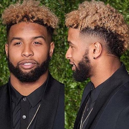 Temp Fade + Strawberry Blonde Hair - Odell Beckham Jr Hair