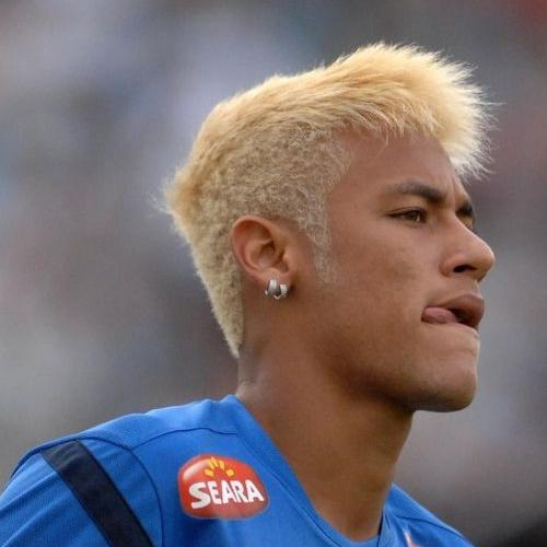 Platinum Blonde Neymar Haircut
