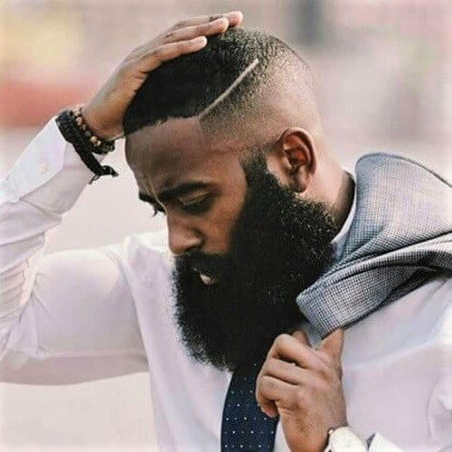 Bald Fades with Big Beard