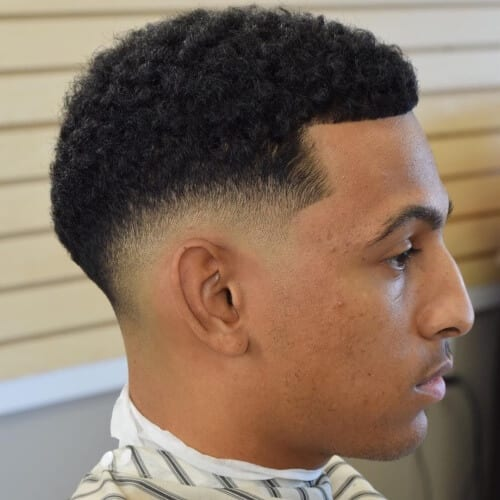 Drop Fade Haircuts with Mid Fades