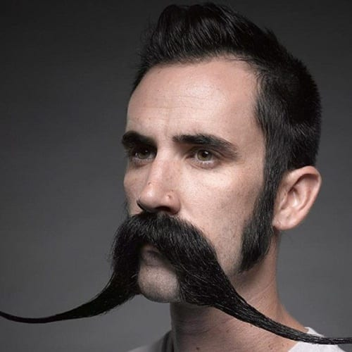 Eccentric Drooping Mustache Styles