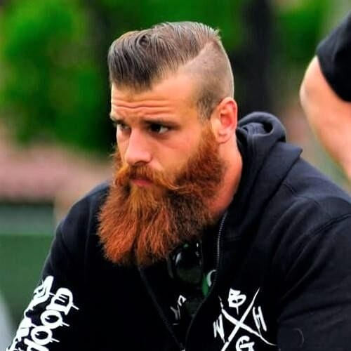Fanned Out Viking Beard Styles