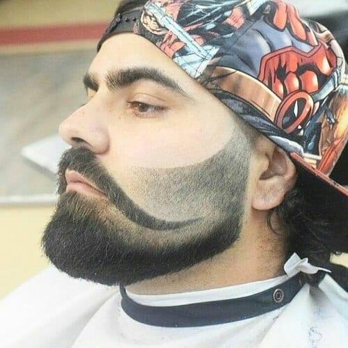 Faux Handlebar Mustache