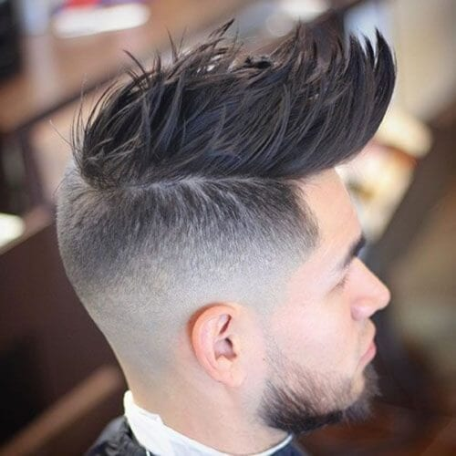 Faux Hawk Fades for Long Hair