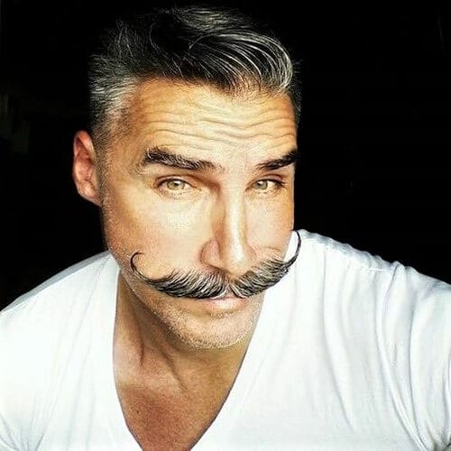 Feathered Mustache Styles