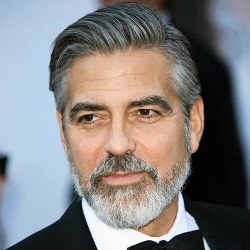 George Clooney Chin Strap Beard