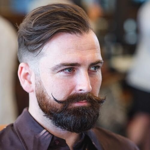 Handlebar Mustache Styles with Beards