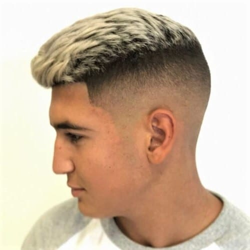 High and Tight Fade Haircuts With Blonde Top