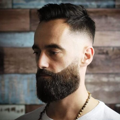Quiff Fade Haircuts with Beards