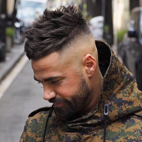 Side Spikey Fade Haircuts