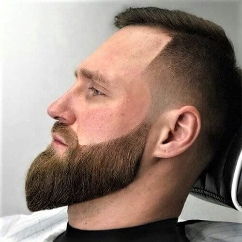 Sideburns Fades with Long Beards