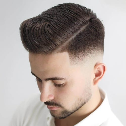 Softer Hard Part Fade Haircuts for Men