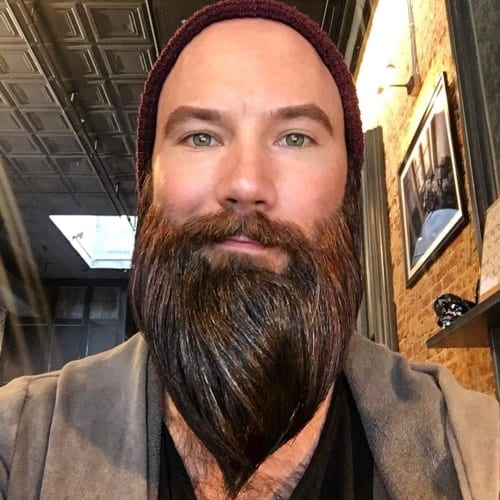 Straightened Viking Beard Styles
