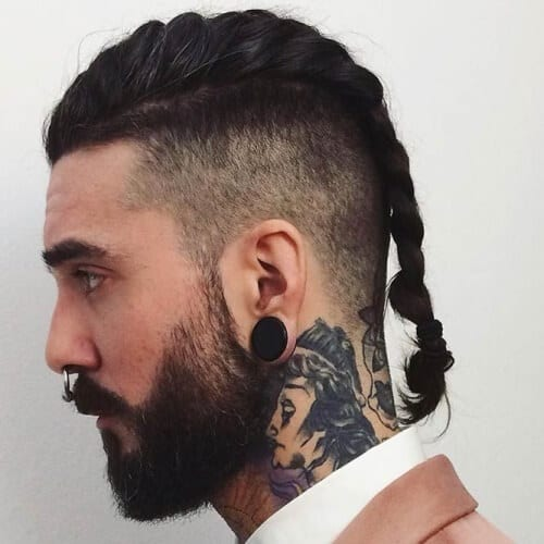 Viking Hairstyles with Small Beards