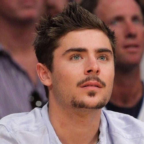 Zac Efron Mustache and Goatee Styles