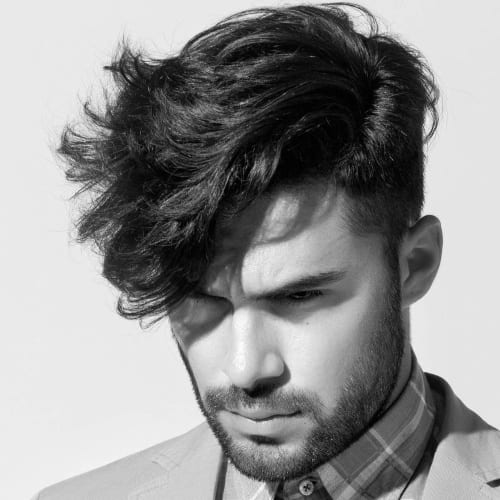 Angular Men's Side Fringe Haircuts