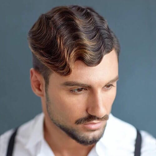 Finger Waves Fringe Haircuts Men