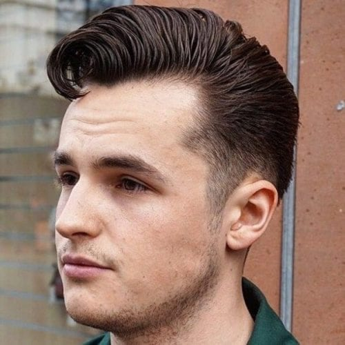 Greaser Short Fringe Haircuts for Men