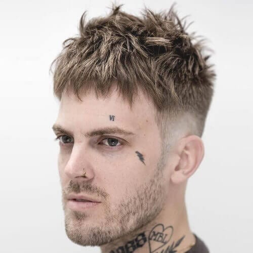 Jagged Fringe Haircuts Men