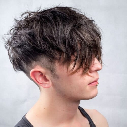 Long and Messy Fringe Haircuts Men