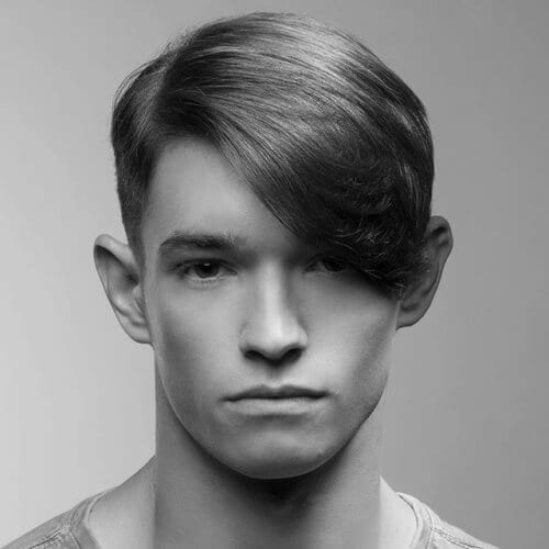 Men's Side Fringe Haircuts for Soft Hair