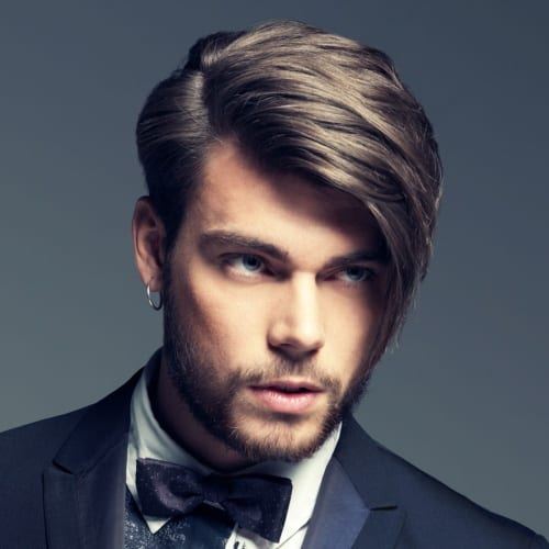 Side-swept Fringe Haircuts Men