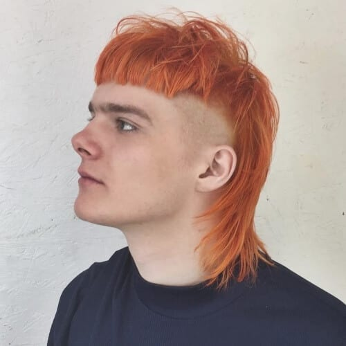 Burnt Orange Hair Color for Men