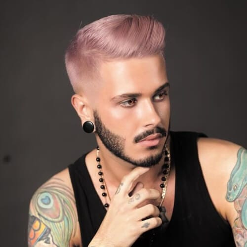Champagne Pink Hair Color for Men
