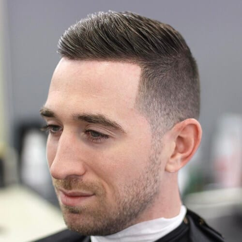 Combover Short Textured Haircut for Men