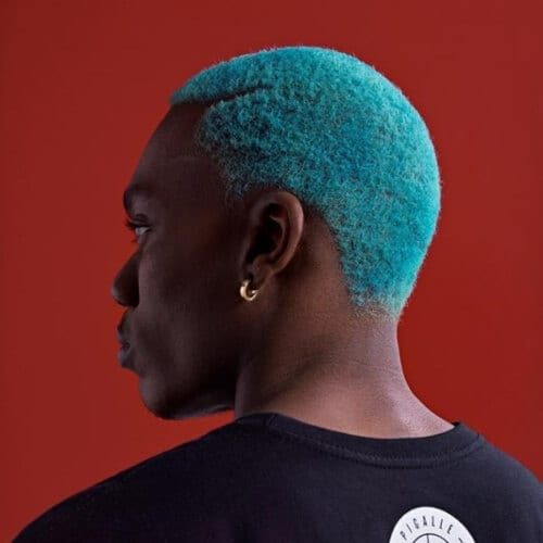 Cool Turquoise Hair Color for Men