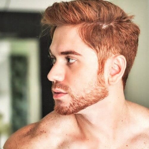 Copper Brown Hair Color for Men