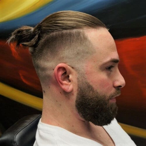Curved Mens Top Knot