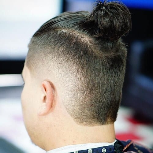 Faux Hawk Top Knot Men
