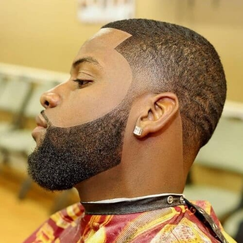 Front Slanted Line Up Haircut