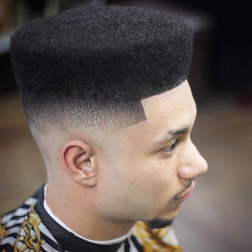 High Top Fade Types of Haircuts for Black Men