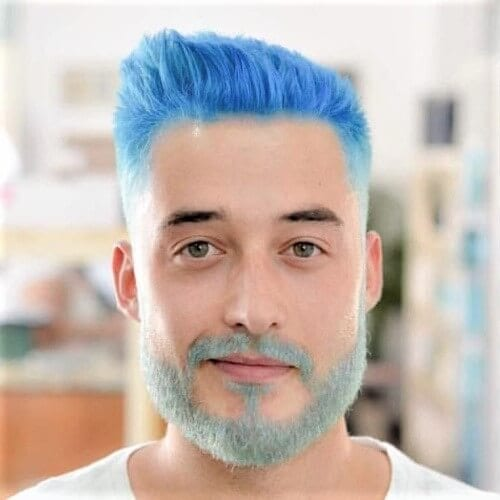 ight Blue Hair Color for Men