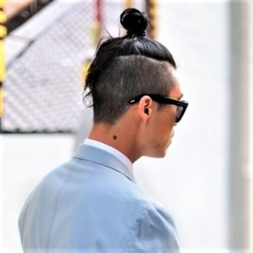 Long Hair Top Knot Men