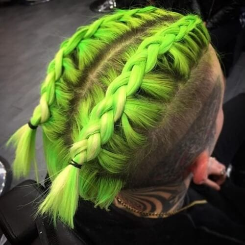 Neon Green Mens Hair Color
