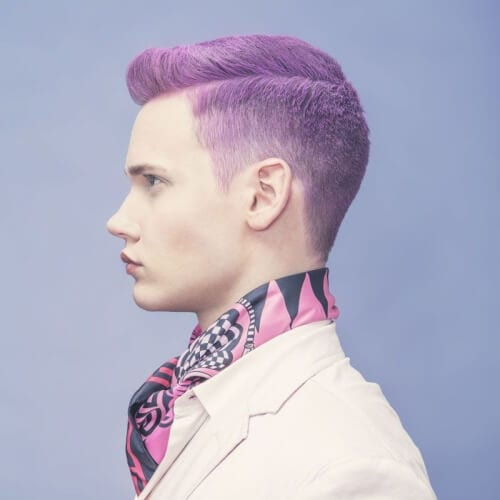 Pastel Purple Hair Color for Men