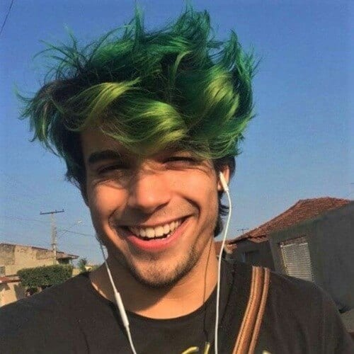 Seaweed Green Hair Color